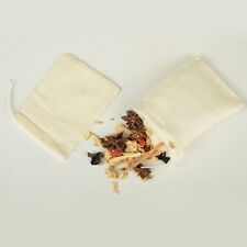 (500) 3x4in Cotton Muslin Drawstring Bags Tea Spice Herbs Soap 8x10cm WHOLESALE