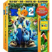 Rio 2  w/ exclusive slapband  dvd blu-ray digital hd gobal shipping