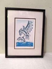 William Bill Herbert Helin Tsimshan Northwest Coast Art Eagle and Sockeye Salmon