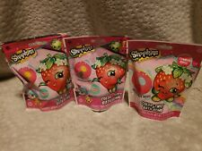 Shopkins Bath Bomb for Kids Strawberry Scented Fizzie Color Twist Changing 3 pk