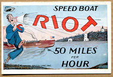 SPEED BOAT RIOT POST CARD -  Unused