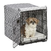 Midwest Homes for Pets CVR24T-GY Dog Crate Cover with Fabric Protector, Small, G