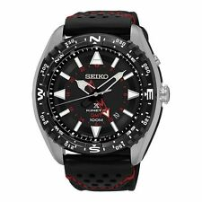 Seiko Prospex Kinetic Herren analog Casual schwarz Band SUN049P2