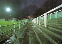 Non-League Football Ground Postcard, Hitchin Town FC, Topfields, Hertfordshire