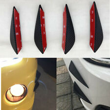 4pcs Car Front Bumper Fins Lip Kit Canards Splitters Body Trim Carbon Fiber Look