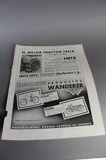 Fritz Hetz , Karlsruhe + Wanderer Werke  - fremdspr. Reklame von 1936     /S139