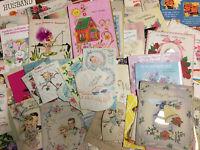 100 Vintage Greeting Cards Birthday Valentine Wedding Baby Retro Cute Graphics