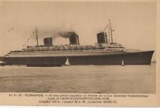 CGT FRENCH LINE SS NORMANDIE Cygne Postcard 1