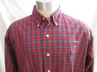 Ralph Lauren Blake Men's Red Plaid Long Sleeve Shirt Size Large