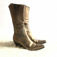 BCBGirl Sz 7 Tubina Bronze Metallic Cowboy Boots