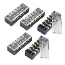 5 Stueck Doppel-Reihe 5 Position Schraub-Klemmleiste 600V 15A_x005f_x000D_ K5J8