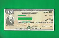 US SAVING BOND JOHN ADAMS 1988  $75.00  SERIES EE  UNCANCELLED one bond.