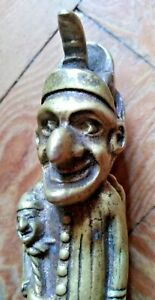 Vintage Early 20th Century Punch & Judy Brass Nut Crackers - Rare Antique Curio