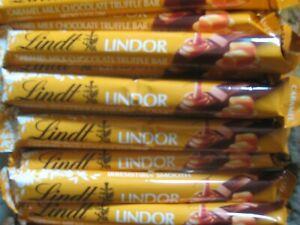 LOT OF 20 Lindt LINDOR Milk Chocolate Caramel Truffle Bars 1.3 oz  7/21