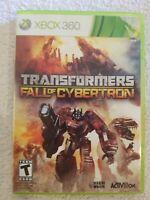 Transformers: Fall of Cybertron (Microsoft Xbox 360, 2012) Tested NO MANUAL RARE