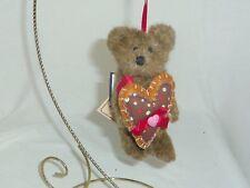 Lil Sprinkles 5in Boyds Bears teddy bear Christmas ornament with heart 4023926
