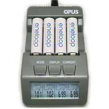 Hot Opus BT-C700 4 Slots Intelligent AA AAA Battery Charger with LCD EU Plug
