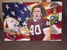 """Pat Tillman Arizona Cardinals Army Ranger """"#40"""" 2x3' Acrylic Canvas Painting 1/1"""