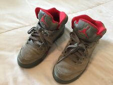 Air Jordan V 5 Retro Shoes Size 5 Y Youth 440888-051 Dark Stucco Camo Fire Red