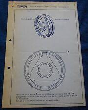 Ferrari propulsion circolare TECNICA #61 Blueprint 1966 No brochure Book Livre Press