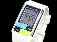 LDF-50-7D White Poptone Resin Band Casio Ladies Watch 50m Day Date World Time