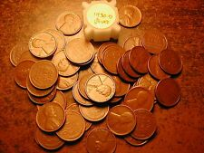 1930-D Lincoln Wheat Cent Penny Roll, High Grade! Vf-Xf!