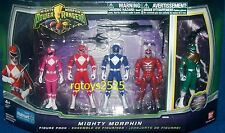"Mighty Morphin Power Ranger Set Red Pink Blue Green Ranger New 4"" Lord Zedd 2010"