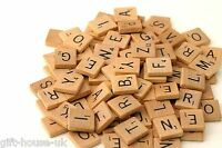 Wooden Scrabble Individual Tiles Letters Numbers For Crafts & Alphabet Wholesale