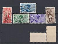 ITALY 1934 Football World Cup Mint/Used  Sc.324-328 (Sa.357/361)