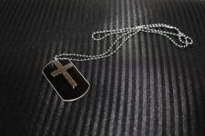 Dog tag mit Kreuz, Kette Kreuz, Kugelkette mit Anhänger