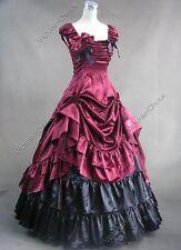 Victorian Saloon Dress Steampunk Vampire Witch Punk Halloween Costume N 270 XL