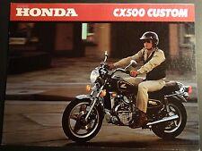 1980 HONDA MOTORCYCLE CX500 CUSTOM SALES BROCHURE 4 PAGES  (316)