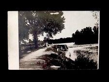 RPPC- c1910 River Dam, Swimming, Creekside Bathing Vintage Real Photo Postcard