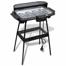 vidaXL Barbecue Elettrico Rettangolare Griglia da Giardino Grill con Supporto