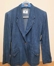 MOSCHINO JEANS VINTAGE JACKET GIACCA COAT DONNA TAGLIA 44 MILANO Made in Italy