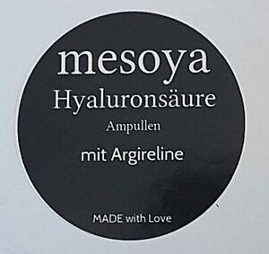 Argireline Ampullen mit Hyaluronsäure Kollagen Mesotherapie Anti Falten 10 x 2ml