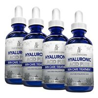 ❤ 4 Pack 100% Pure HYALURONIC ACID Anti-Aging Wrinkles-Intense Hydration 4x 2oz