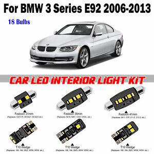 18pcs Deluxe White LED Interior Light Kit For BMW 3 Series E92 Coupe 2006-2013