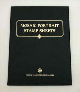 Postal Commemorative Society Mosaic Portrait Stamp Sheets Folder