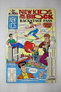 New Kids on the Block #7 Back Stage Pass Harvey Rockomics November 1991 Comic