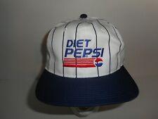 Vintage 90s Youngan Pinstripe Diet Pepsi Soda Snapback Hat Cap