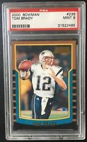 2000 Bowman #236 Tom Brady RC Rookie Card PSA MINT 9 - Fast Shipping!