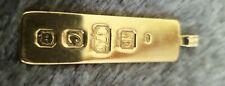 Lingote oro 9ct Vintage Colgante 12gm ley 1977