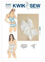 Kwik Sew Sewing Pattern 3167 Misses Lace Trimmed Camisoles Panties Size XS-L