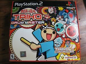 Taiko Drum Master Bundle (PS2 Sony PlayStation 2, 2004) complete Drum & Sticks