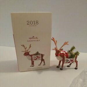 2018 Hallmark Limited Edition Father Christmas Reindeer Ornament