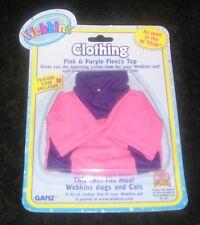 Ganz Webkinz Pink & Purple Fleecy Top seen in the W Shop Clothes with code NIP