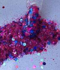 glitter mix acrylic gel nail art   MAJESTIC