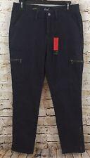 Earl jean pants womens 8 skinny ankle cargo purple zip ankle new B6