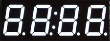 "5 Pcs - 0.56"" Four Digit 7 Segment White LED Display, Black Face, Common Anode"